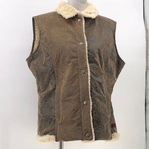Woolrich Womens XL Faux Leather Sherpa lined Saddl
